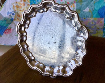 """Silver plate tray, Eales Silver Plate, 11 1/2"""""""