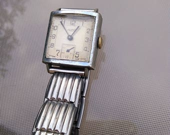 French antique art deco twist watch tant watch woman warch  chronograph stainless stell bracelet