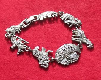 Vintage Noah's Ark Metal Bracelet
