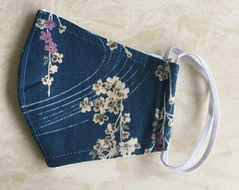 Flower cotton mask,Face mask,Woodworking,gardening, Mouth mask,biking,Dust proof,japanese stly