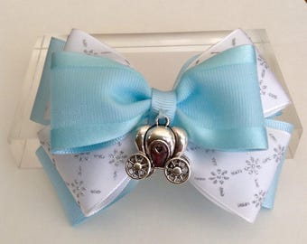 Cinderella Bow  with Carriage Charm .