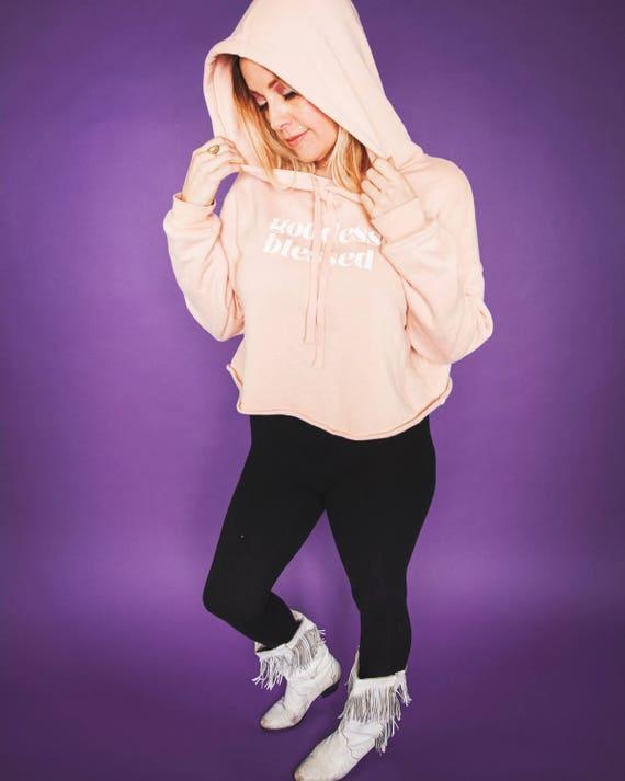 Goddess Blessed peachy keen fleece hoodie