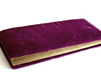 Victorian Photo Album, Antique Photograph Album, Purple Velvet Photo Album, AS IS