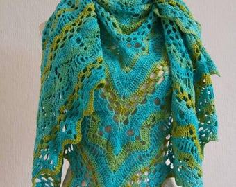 Turquoise green shawl