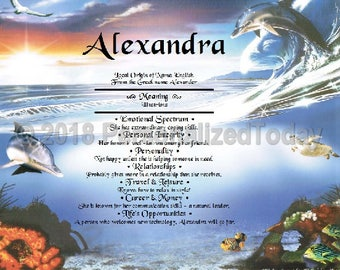 Dolphins Name Meaning Origin Print Name Personalized Certificate 8.5 x 11 Inches Customized With Any Name