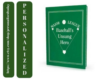 Baseball Book Major League Baseball's Unsung Hero Custom Name Personalized Sports Fiction Book Ages 9 to Adult Create A Book World Series