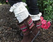 Girls Boot Socks with Lace and Pearls Arrow Accent Skirt Socks Children's Socks Dress Socks Girls Gift Idea