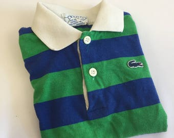 Izod Child's Size 6 Polo Shirt, 45/55 Polyester Cotton, Izod Children's Ware, Striped Izod Polo Shirt