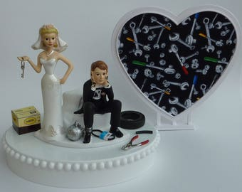 Ball And Chain Cake Topper Brown Hair