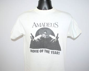 1984 Amadeus RARE Vintage Movie Of The Year Classic Vintage Wolfgang Amadeus Mozart Biopic Thorn EMI HBO Video Film Promo T-Shirt