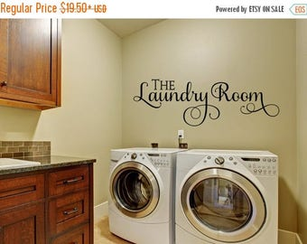 CLEARANCE SALE Laundry Wall Decal - Wall Decal - Laundry Room Decor - Laundry Decal Wall Decals - Wall Vinyl - Vinyl Decal - Wall Decor - De