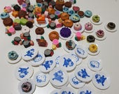 Miniatures of food in fimo and / or resin + saucers