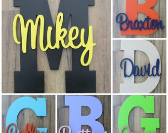 "SPECIAL OFFER! 14"" Wooden Letter with Names"