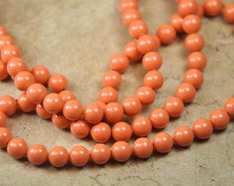 Swarovski crystal pearls 6mm coral 10 beads