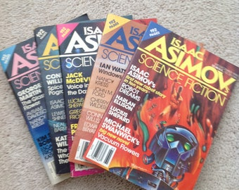 Lot of 61 Science Fiction Magazines 1979-1987