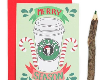 Moving SALE Sarcastic Christmas, Basic Season, Funny Holiday Cards, PSL, Coffee Lover, Funny Christmas Card, Bestie, Sarcastic Cards, Best