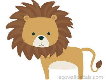 Lion Wall Decal Etsy