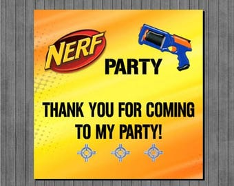 ON SALE Nerf Party Favor Tags