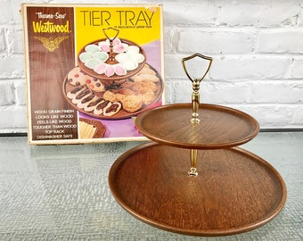 Thermo-Serv Westwood Two Tier Handled Tray with Original Box