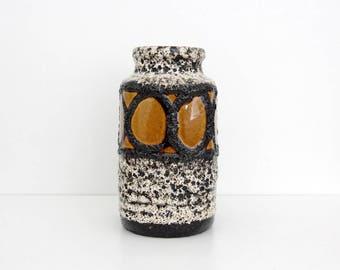 Vintage Vase // West Germany Scheurich Pottery Vase // Fat Lava Vase