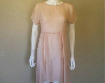 ON SALE Sheer pink dress Sz small Good condition