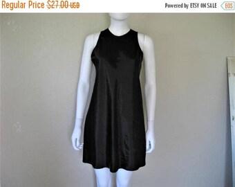 25% off SALE Black Satin 90s Dress
