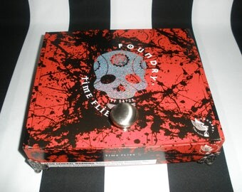 Gasparilla Red, Skull, Cigar Box Valet, Stash Box, Pirate Booty Box, Watch Box, Tampa, Authentic