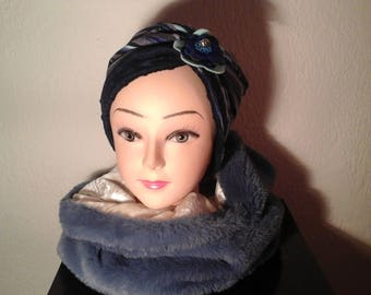 Chemo and Balaclava Hat reversible woman, girl for the winter