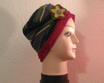 stretchy reversible chemo, woman, girl winter Hat