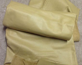 B51 Leather Cow Hide Cowhide Upholstery Craft Fabric Embossed Toasty Tan 44 sf  Free Shipping !!!