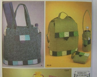 UNcut 2003 Simplicity 5320 Asst. BAGS and BACK PACK Pattern