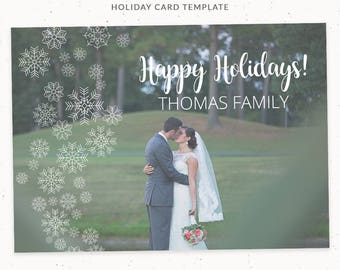 Holiday Thank You Card, Christmas Card Template, Christmas Card for Photo, Thank you Card Wedding, Christmas Thank you Card, cr005