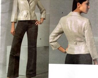 Vogue American Designer Pattern 2896 ANNE KLEIN JACKET & Pants Misses Sizes 14 16 18