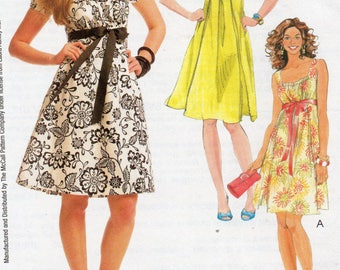McCall's LAURA ASHLEY Pattern 5619 Low Bodice DRESSES Misses Sizes 6 8 10 12 14