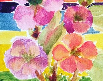 Funky Flower Watercolor