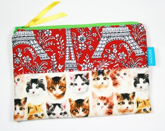 Cosmetic Bag, Makeup Bag, Zipper Pouch, Purse, Toilet Bag, Pencil Case, Cats