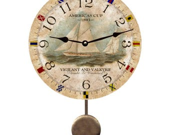 Nautical Ship Pendulum Clock
