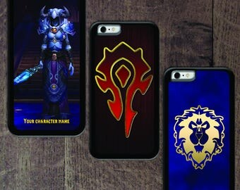 World of Warcraft Custom Character iPhone case black rubber