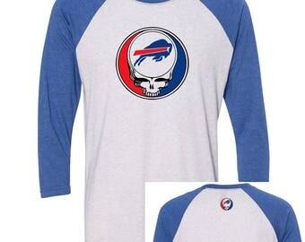 Grateful Dead & Company inspired Steal Your Bills  Lot T-shirt Next Level Raglan 3/4 Sleeve