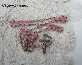 Antique silver rosary 1910