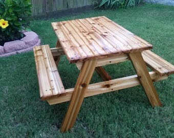 Hand Crafted Kids Cedar Picnic Table **New and Improved**