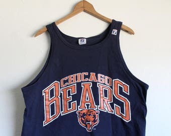 XLARGE Vintage 1990s CHICAGO BEARS Tank Top