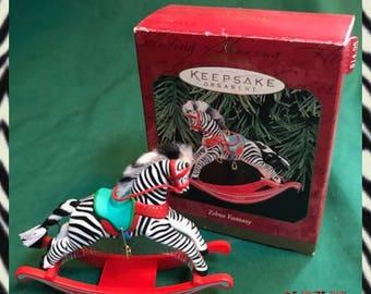 1999 Hallmark Keepsake Zebra Ornament