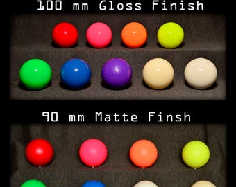 Play Juggling Contact Poi - 80mm, 90mm or 100mm - 2 or 3Poi - Customizable