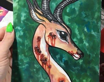 Dibatag Original 6x9 Gouache Painting