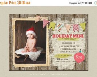 ON SALE Holiday mini session template - christmas mini session template - photography marketing template