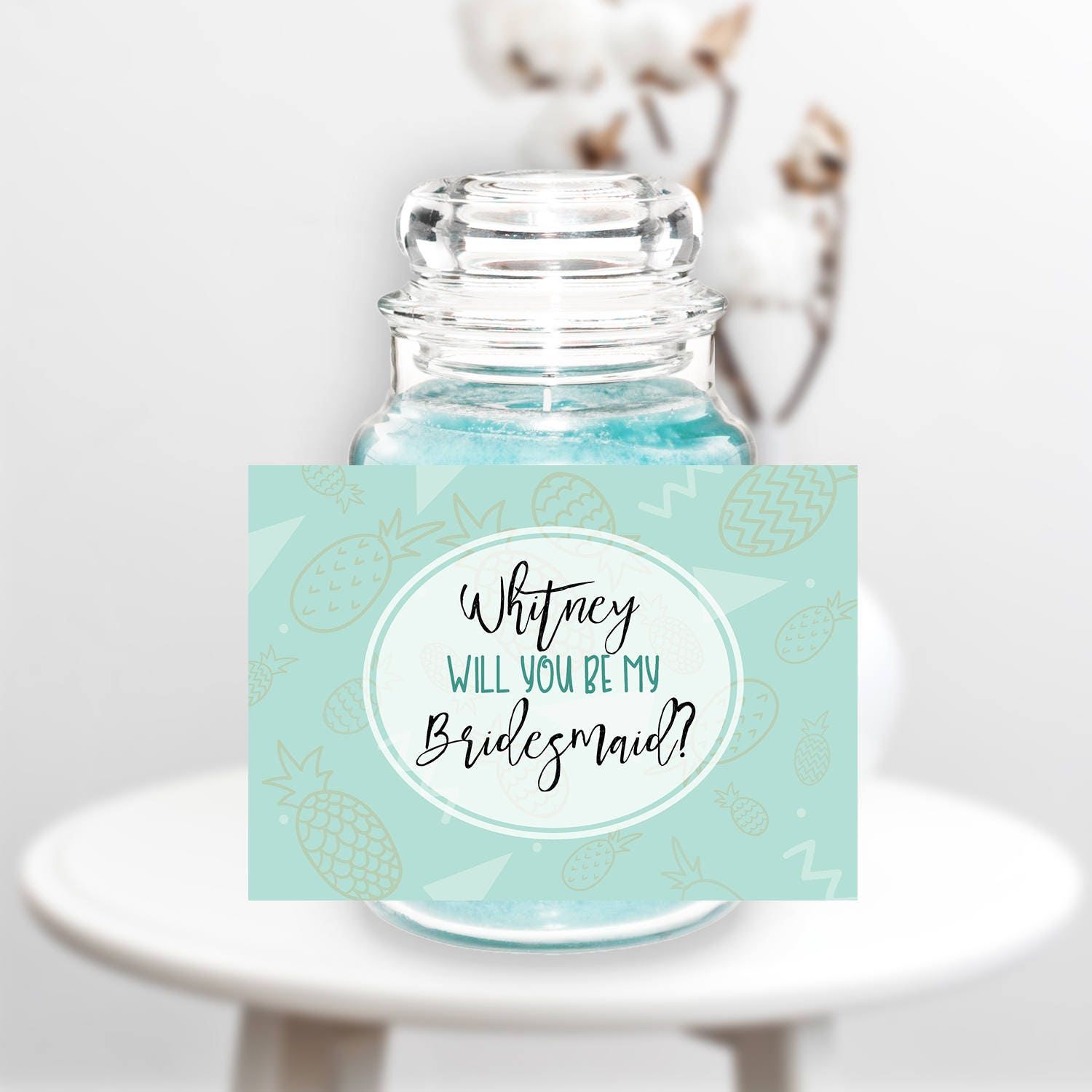 Bridesmaid Candle Bridesmaid Favor Bridesmaid Gift Wedding