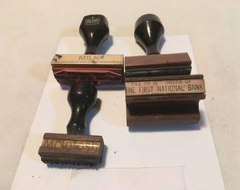 Antique McIntosh Minn. Creamery Locker Bank Hand Stamps