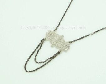 DESTASH Choker with silver lace