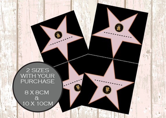 walk of fame star place cards printable hollywood walk of fame party decorations movie themed decor hollywood themed decor movie party